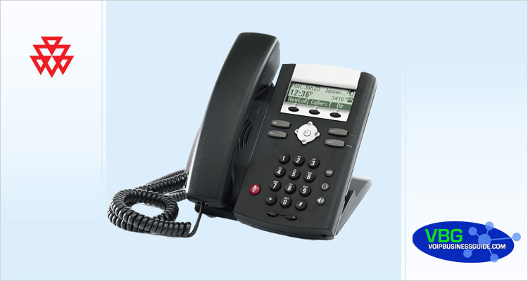 What is the default password for a Polycom VoIP phone?